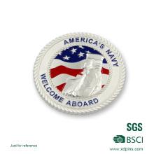 Neu USA versilbert Polizei Souvenir Herausforderung Münze