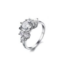 Populärer Edelstahl, der großen Steinring, kundenspezifischen Verlobungsring heiratet