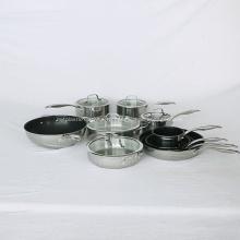 Дешевые горячие продажи кухонной посуды с антипригарным покрытием из нержавеющей стали