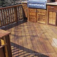 Decking natural da madeira contínua para a corte ao ar livre