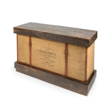 Leather & Jute Consol Box