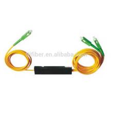 2.0mm 1x2 fbt acoplador / divisor de la fibra de la cerradura multimodo de la fibra