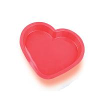Molde lindo de la torta del silicón del corazón de LFGB