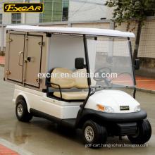 electric golf car with storage box