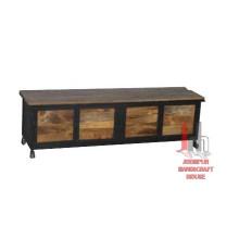 Consola de hierro y madera