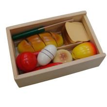 Kinder Hölzernes Klettband Brot Spielzeug