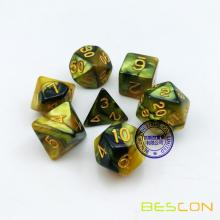 Bescon High Quality Golden Gemini Dice Set