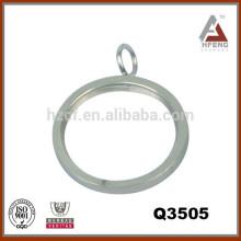 Accesorios de barra de cortina, anillos planos con incrustación