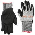 Dauerhafte Wasser-beständige Sandy-Nitril-Beschichtungs-Schnitt-Handschuhe mit Handschutz der Schnitt-5