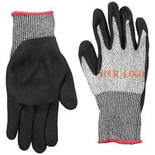 Neuer Sicherheitsschutz Nitrilbeschichteter Schnittschutzhandschuh mit Sandy Nitril Dip Palm