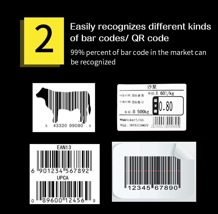 Bluetooth barcode scanner S03