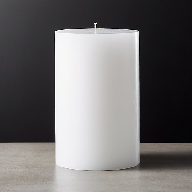 Pillar Candle White Color