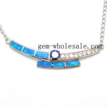Collier d'Opale bijoux-925 Sterling Silver (YN00014)