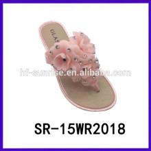Zapatillas de mujer de flores de color rosa zapatillas deslizador de mujer para mujer zapatillas de mujer baratos