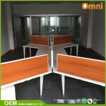 Mesa de móveis de escritório moderna e elegante 2017 para quatro pessoas