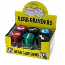 3 Layers Black Zinc Alloy Herb Grinder