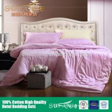 Nuevo estilo 2018 seda juego de cama de tela de bambú 100% liso