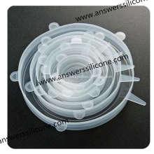 Couvercles extensibles en silicone souple sans BPA6PCS