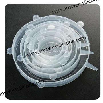 Tapas elásticas de silicona flexibles sin BPA 6PCS para alimentos