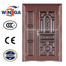 Antique Style Exterior Sicherheit Eisen Metall Stahl Kupfer Tür (W-STZ-06)