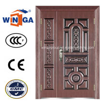 Antique Style Exterior Security Iron Metal Steel Copper Door (W-STZ-06)