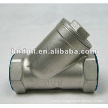 """Y-type stainless steel internal thread filter with DN 6mm,1/4"""" thread"""