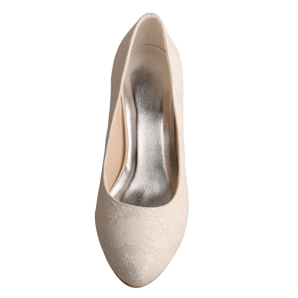 Ivory Shoes Closed Toe