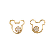 Teddy Bear Charm Stud Earring