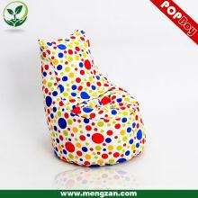 Sofá de beanbag de algodón único para niños mini silla de sofá, tela de algodón, bolsa de frijol