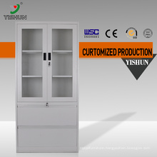 KD 2 glass doors steel filing cabinet office use / used steel storage cabinet