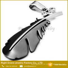 China Fabrik-Preis-Liebhaber-hängende Goldschwarze überzogene Halskette Charme-Anhänger-Schmucksachen