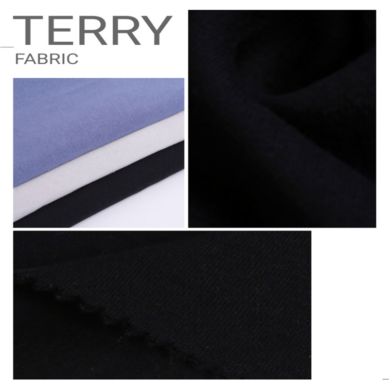 black terry knitted fabrics