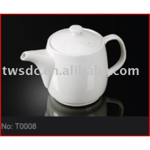 Hotel crockery porcelain tea pot for restaurants (No.T0008)