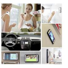 Anti-Gravity Selfie Case Magical Nano Sticky para iPhone7 / 6 / 6s / Plus con se puede pegar a vidrio, espejos, pizarras, metal, gabinetes de cocina o azulejo, GPS para el coche,