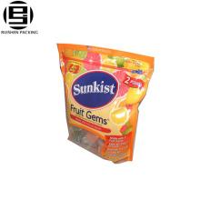 Wholesale printing opp zipper slider bag for fruit suger