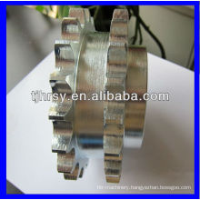 Duplex sprockets chain wheel zinc plated