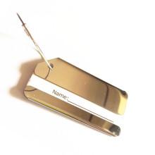 Regalo promocional Etiqueta de equipaje de lujo del metal con el logotipo de encargo (B1003)