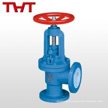 flange ended angle type globe valve