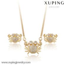 60830-Xuping été populaire ensemble de bijoux de crabe populaire