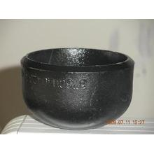 Black Steel Steel Pipe End Cap