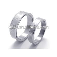 Anillos de moda de acero inoxidable grabado anillo