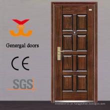 Cheap portas de segurança de entrada de aço residencial