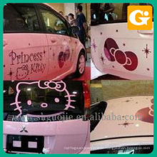 Etiqueta bonita do carro da princesa Kitty