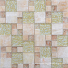 300X300 Gold Foil Glass and Stone Mediterranean Mosaic Tile