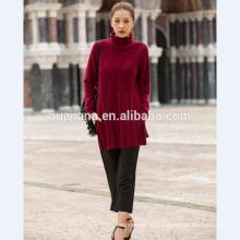 Camisola longa da mulher da moda 2017
