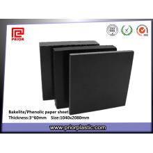 Folha de papel fenólica preta com preço de fábrica