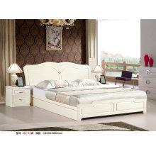 Ivory Color Kd Bedroom Furniture, Kd Dresser, Wardrobe, Bed (B2)