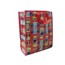 bolso de compras plástico tejido regalo plegable
