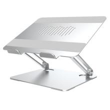 Suporte ajustável dobrável de alumínio para laptop com refrigeração