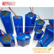 Heat shrink tube for battery or capacitor pack
